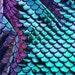 New Fish Scales Mermaid Iridescent Tone Spandex Fabric Sold by Yard {Green/Purple } Mermaid Fabric Not Washable