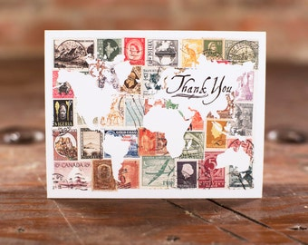 World Stamps Thank You Cards