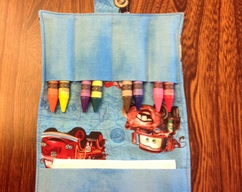 Cars Crayon Wallets