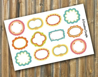 Wacky Frame Boxes Planner Stickers