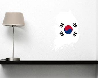 South Korea Vinyl Country Cutout