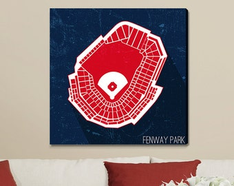 Boston Baseball Fenway Park Canvas Print