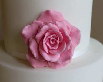 Gumpaste large roses 3pcs, edible fondant flower,  wedding cake, birthday cake, fondant rose, celebration cake, gumpaste flower