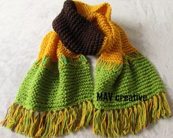 Hand knit scarf - 'Sunflower'