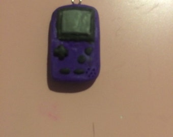 Purple Gameboy Polymer Clay Charms