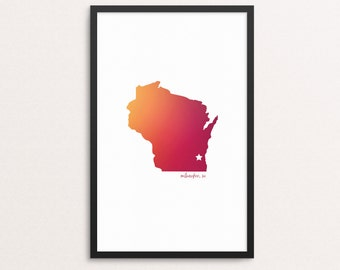 Milwaukee, WI print