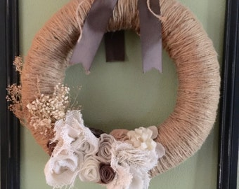 Jute and Burlap Wreath