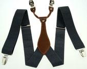 Brand new Mens Adjustable Clip-on Unisex suspenders Solid womens braces