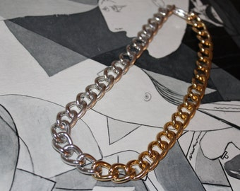 Chain Choker necklace gold and silver