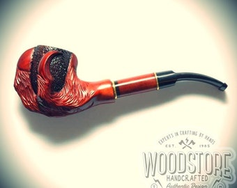 "Handcrafted tobacco pipe - ""Paw"" wooden smoking pipe, wood pipe"