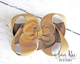 Mud Pie Hair Bow For Girls, Hair Bows For Babies, Girls Hair Bow, Brown Hair Bow, Baby Headband, Headband for Babies, Boutique Bow