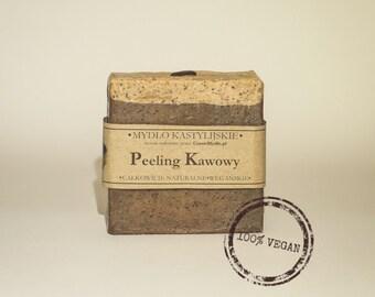 Handmade Castile soap and coffee peeling 100g, VEGAN, 100% Natural.