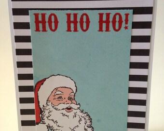 Handmade Christmas card - Ho ho ho