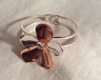 Silver/copper bangle