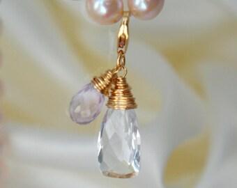 Quartz crystal Amethyst pendant quartz rock crystal Amethyst pendant
