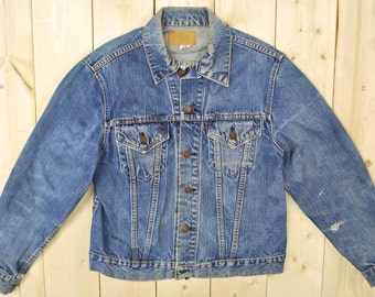 "Vintage 1960's LEVIS ""BIG E"" Type III 70505 0217 Trucker Denim Jean Jacket / Retro Collectable Rare"