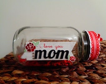 Mother's Day Message Jar/unique/retro/bedroom accent/her gift
