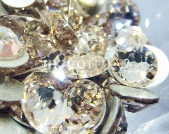 Flat Back Swarovski 2058 ss5,ss7,ss9,ss12,ss16,ss20,ss30,ss34 Light Silk (261) Crystal Rhinestone 144 pieces Free Shipping
