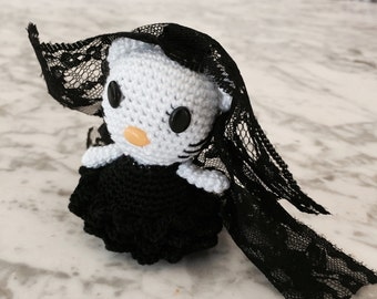 Hello kitty black Flemish amigurumi