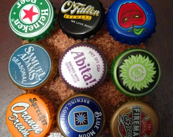 Bottle Cap Thumbtacks (Set of 9) Fun Decorative Push Pins, Great Gift