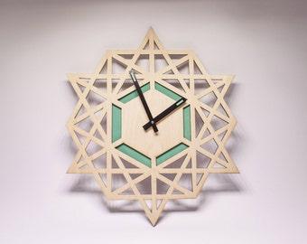 Wooden wall clock Modern wall clocks Large wall clock Unique wall clock Gift