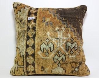 handmade carpet pillow 24x24 hand woven carpet pillow throw pillow ethnic pillow SP6060-457
