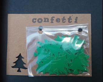 Confetti - Christmas Tree in green