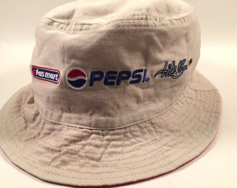 Reversible Red and White Pepsi Fastmart Bucket Hat Sun Hat 90s