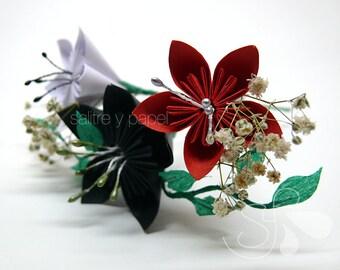 Paper flowers headdress