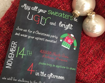 Ugly Sweater Christmas Party Invitation PDF