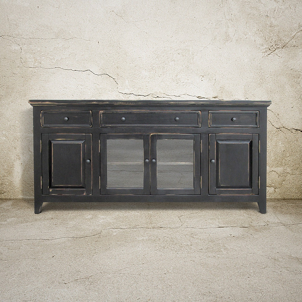 media console sideboard reclaimed wood buffet tv stand. Black Bedroom Furniture Sets. Home Design Ideas