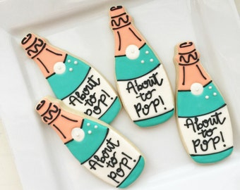 Baby Shower Champagne Cookies