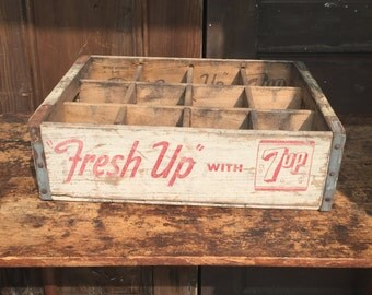 7Up Wood Crate