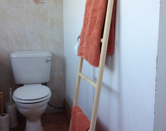 wooden towel ladder - straight sided - 140cms tall
