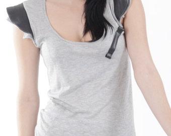 Female Innertube detailed t  shirt