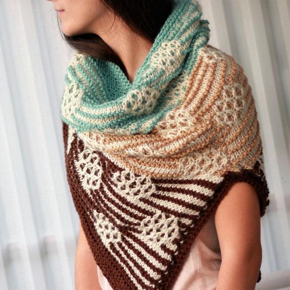 Knitting pattern, Patron tricot PDF – Serenity Cowl Shawl ...