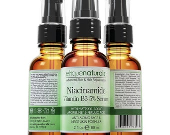 Niacinamide Serum B3 with matrixyl 3000 and argireline,Ferulic Acid Anti Aging Serum