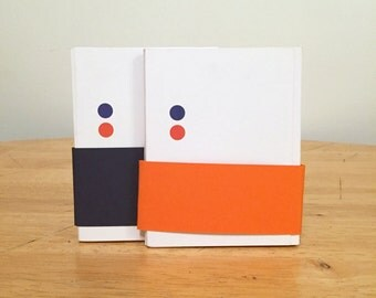 V5: Blue and Orange Accordion Book