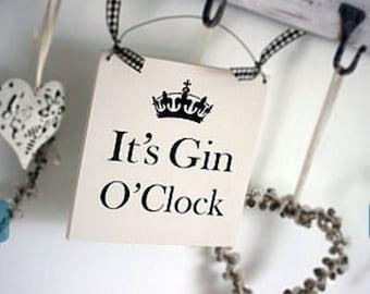 It's Gin O'Clock Sign