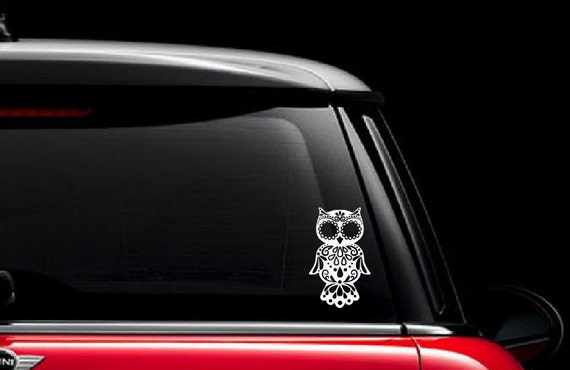 Sugar Skull Owl Vinyl Decal  Sugar Skull Owl Decal  Sugar - Custom vinyl decals automotive