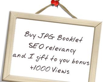 JPG Booklet  SEO relevancy and present  bonus views  +1000 Views