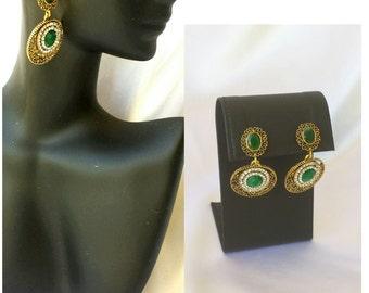 Bridal Earrings Wedding earrings Green bridal earrings Party earrings Wedding earrings Green Bridesmaids
