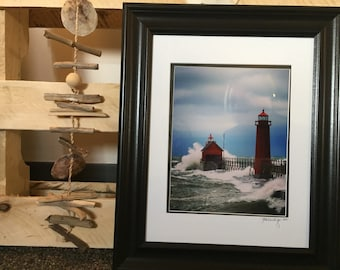 November Storm in Grand Haven, Michigan - 8x10 framed print