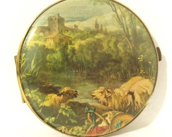 Vintage Makeup Compact - West Germany - Sheep