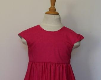 Dress girls 2 T V-neckline back and 4 years