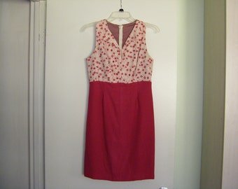 Ladies Summer Dressin Hot Pink, Handmade,  Size 5, (One of a Kind)