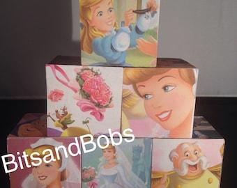 Cinderella the wedding nursery blocks flower girl gift