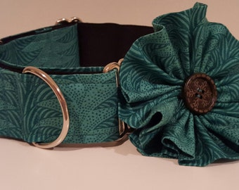 Martingale Collar with Flower