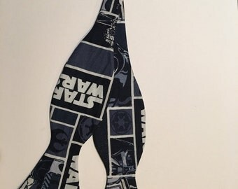 Star Wars tile print bowtie