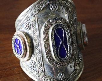 Vintage Afghan Kuchi Cuff Bracelet Antique Medieval Gothic Statement Cuff Bracelet Jewelry
